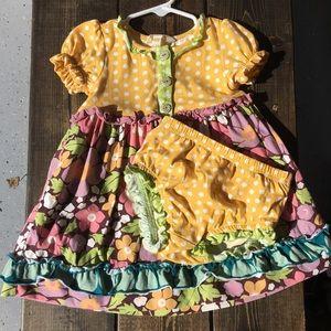 Matilda Jane Size Dress & Diaper Cover 12–18 mo